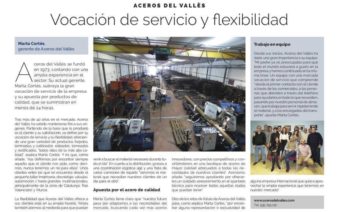 Aceros del Vallès: entrevista en La Vanguardia